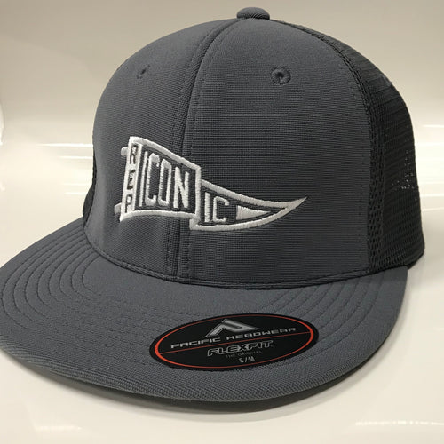 Iconic Performance Trucker Hat - Graphite/Graphite