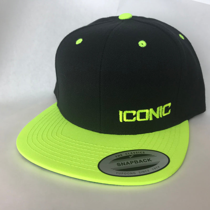 Iconic SnapBack - Black/Neon Yellow