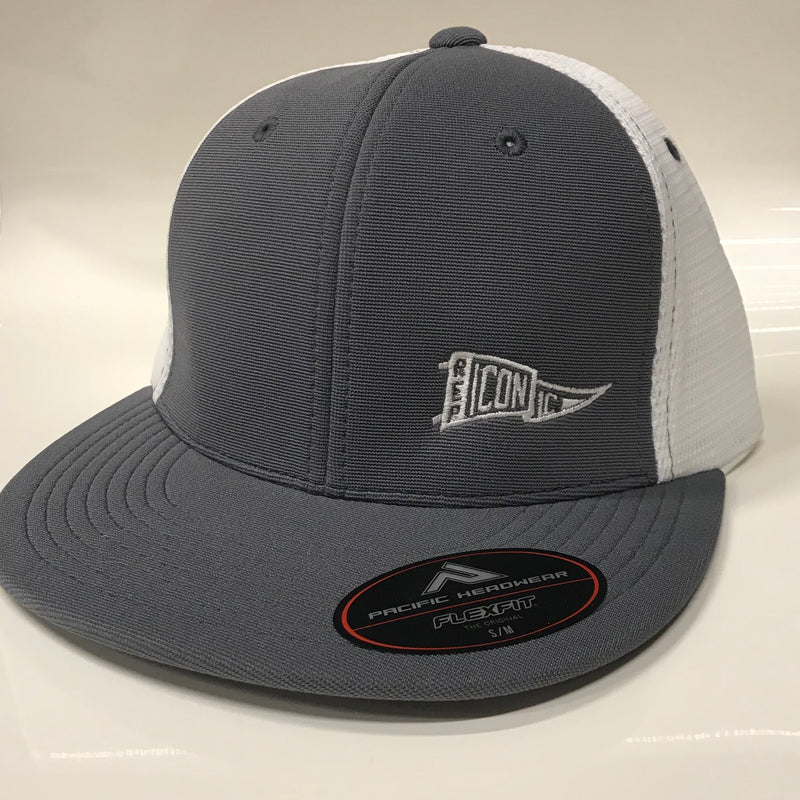 Iconic Performance Trucker Hat - Graphite/White