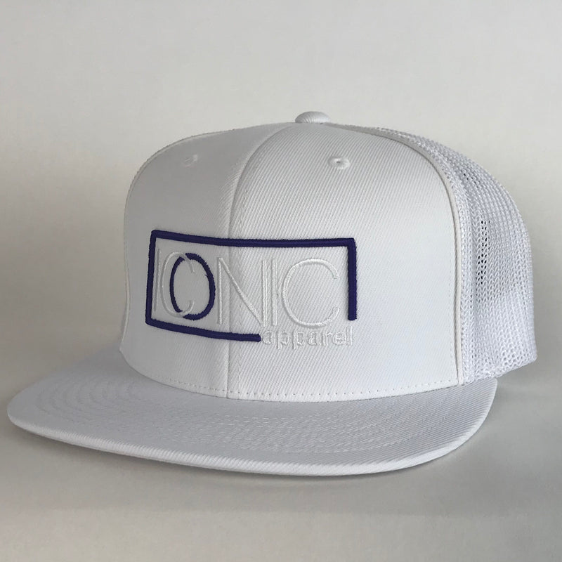Iconic Flatbill - White/Purple