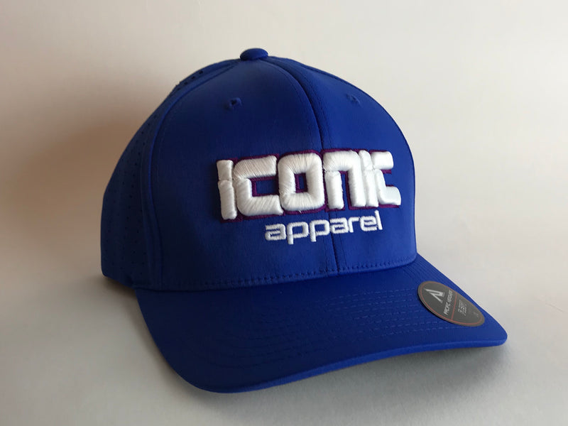 Iconic Perforated Performance Hat -Royal/White/Purple