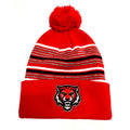 ADM Tigers Red Pom Stocking Hat