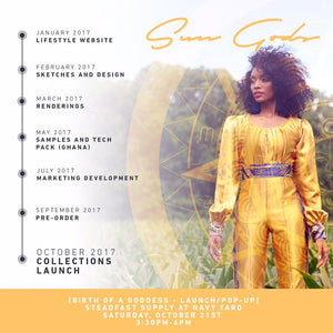 Sun Gods Presents: {Birth of a Goddess} Launch Party/Pop-Up Series!