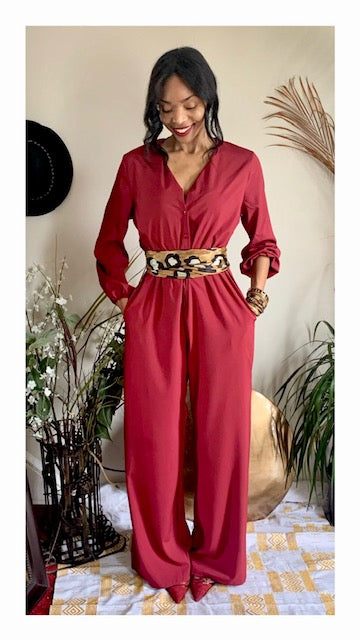 The Celia Jumpsuit - Red
