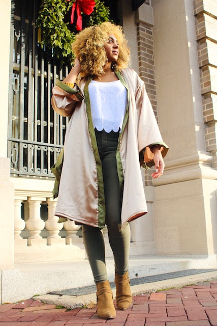 The Hamsa Robe - Cream
