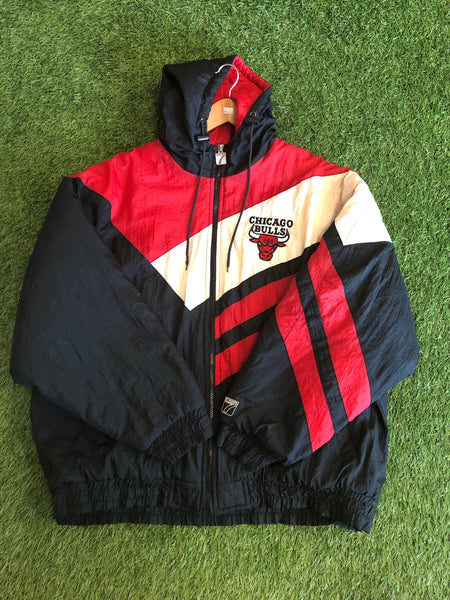 Vintage Chicago Bulls Hooded Jacket Size L