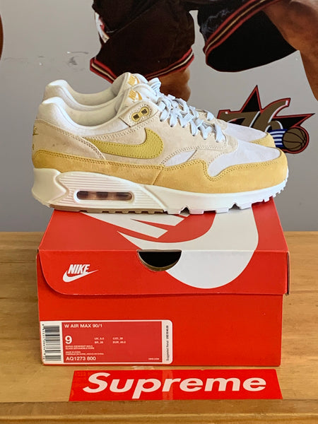 New Nike Air Max 1 Yellow/Tan Size 9wmns