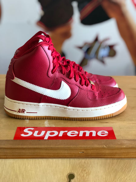 Nike Air Force 1 Red White Gum Sz 7y