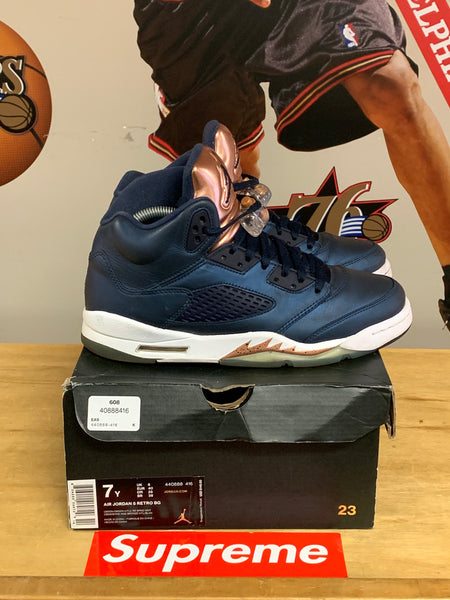 "Air Jordan 5 ""Bronze"" Size 7y Gs"