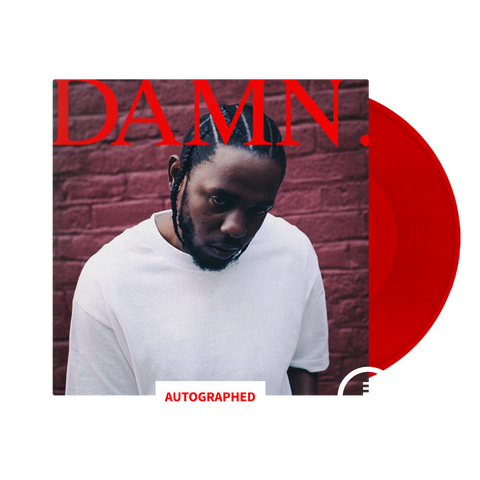 DAMN. Limited Edition Autographed Vinyl + Digital Album