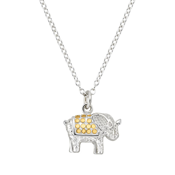 Small Elephant Pendant Necklace 16-18""