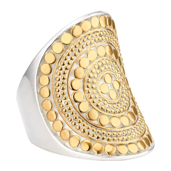 Beaded saddle ring