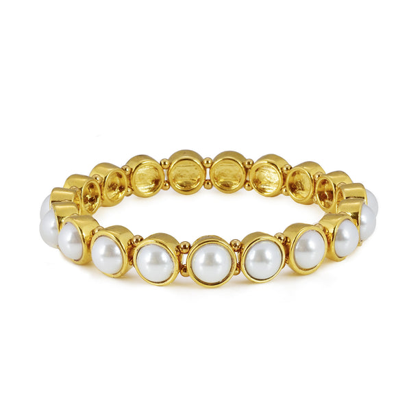 Glass pearl bracelet - stretch