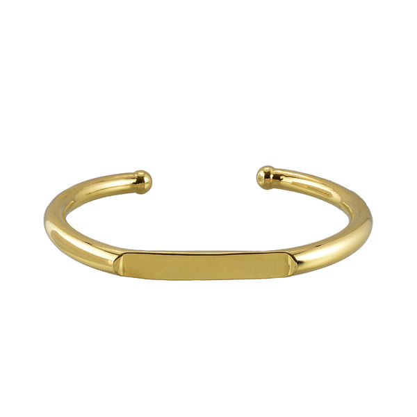 Samantha bar bracelet - 3mm gold plated brass