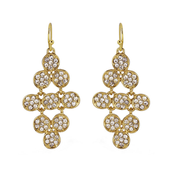 Grace crystal chandelier earring