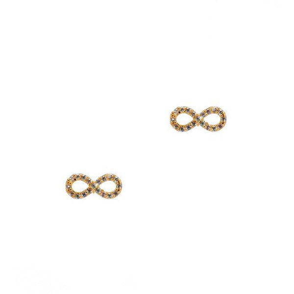 Mini infinity stud earrings