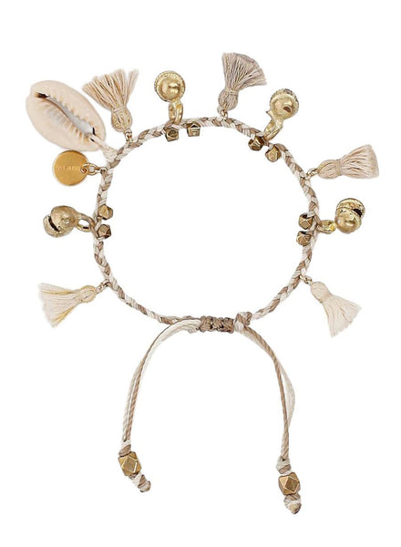 Cream Mix Pull-Tie Bracelet