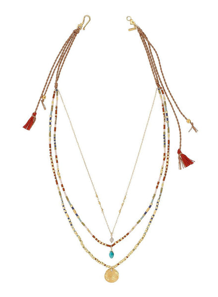 Multi Mix Multi Strand Necklace