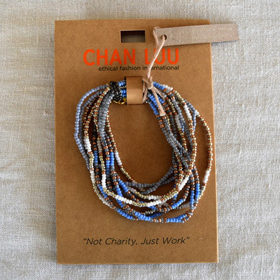 Chan Luu EFI collection 10 Strand Patterned Seed Bead Stretch