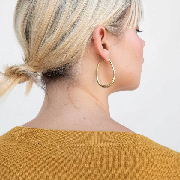 Mezi maxi hoop earrings