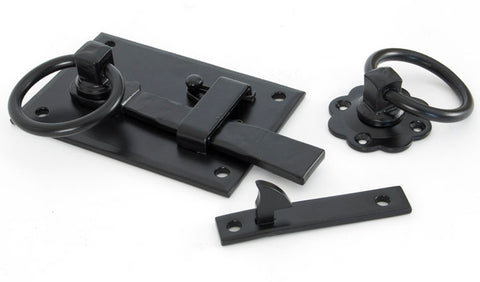 Black Cottage Latch - LH