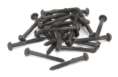 "Beeswax 10 x 1 1/2"" Round Head Screws (25)"