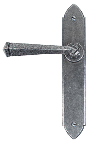 Pewter Gothic Lever Latch Set