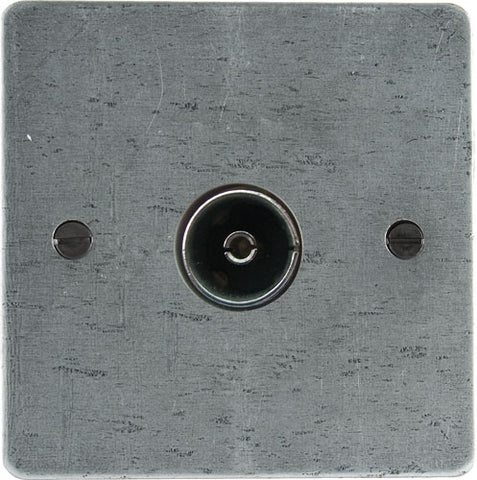 TV/FM Axial Socket - Pewter Patina