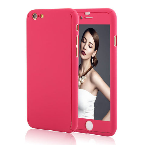 iPhone - Full Body Coverage Case (Rose Red)