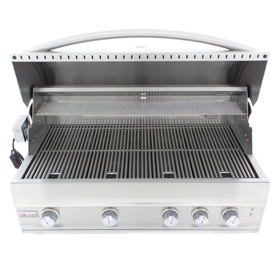 BLZ-4PRO-LP/NG Blaze Professional 44-Inch 4 Burner Built-In Gas Grill With Rear Infrared Burner