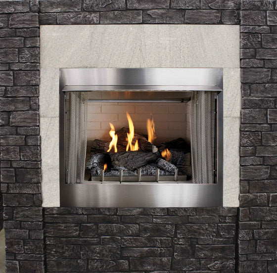 "OP42FP32MP/OP42FP32MN 42"" Outdoor Traditional Premium Fireplace Millivolt with On/Off Switch"