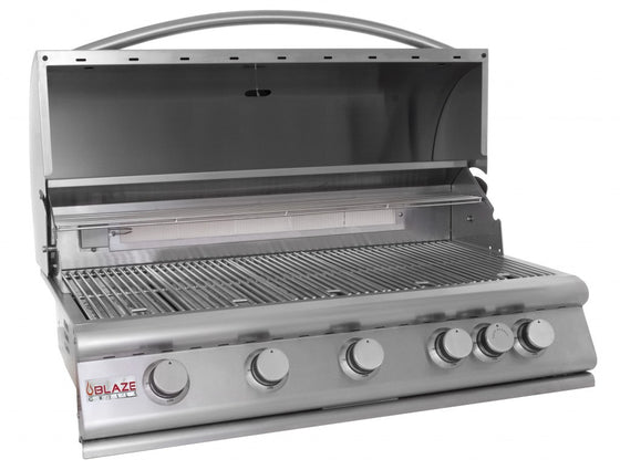 BLZ-5(LP/NG) Blaze 40 Inch 5-Burner Gas Grill With Rear Burner