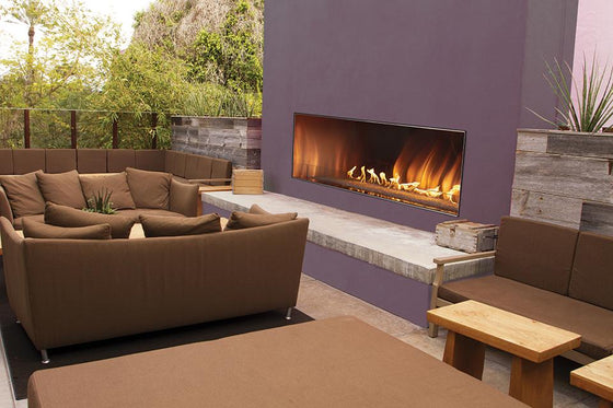 "OLL60FP12SP/OLL60FP12SN Carol Rose 60"" Linear Outdoor Fireplace"