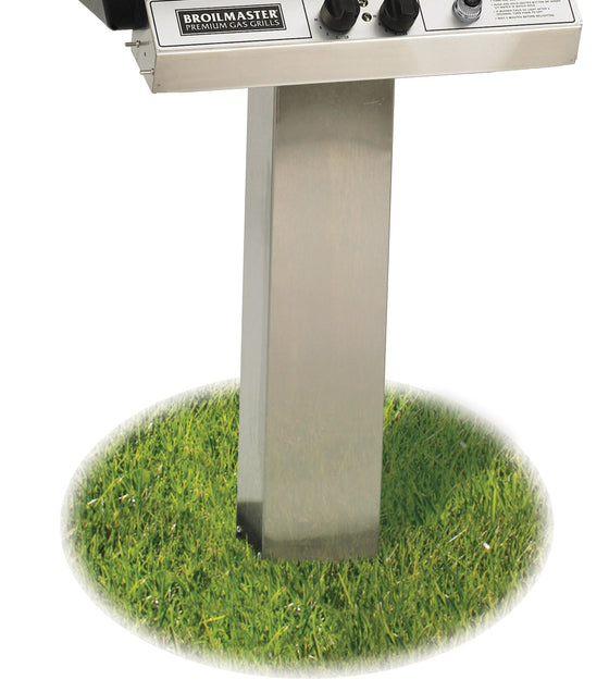 SS48G Stainless Steel In-Ground Grill Post