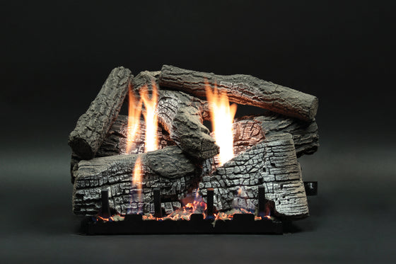 LS18WRR/LS24WRR/LS30WRR Stacked Wildwood Refractory Log Set