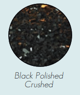 DG1BKP Decorative Glass, Crushed, Black Polished for Loft Burners