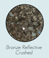 DG1BZR Decorative Glass, Crushed, Bronze Reflective for Loft Burners