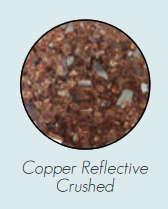 DG1BCR Decorative Glass, Crushed, Copper Reflective for Loft Burners