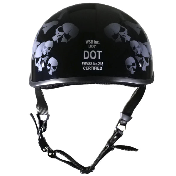 SOA inspired DOT Beanie SkullNation Gloss Black No Peak