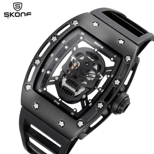 Skull Style Quartz Watch Silicone
