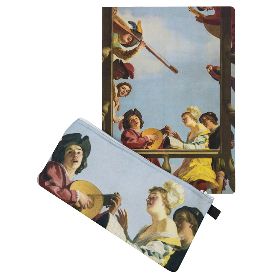 Musical Group on a Balcony Gift Set
