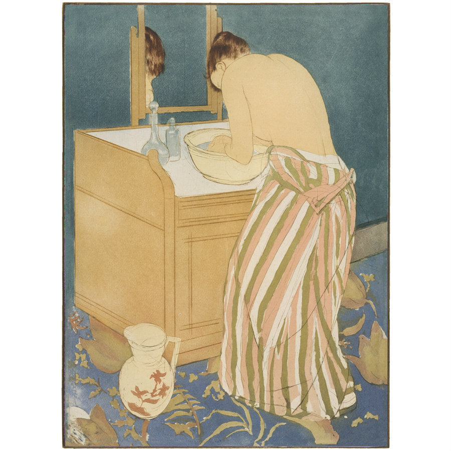 Woman Bathing by Mary Cassatt