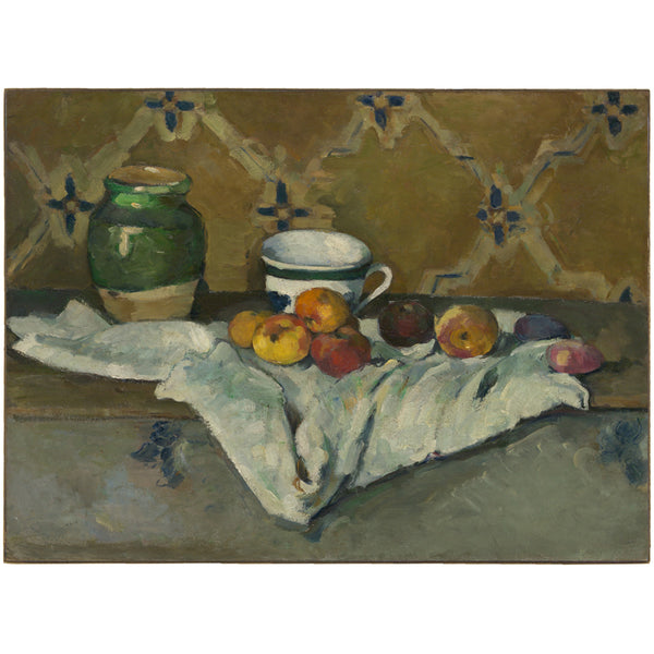 Still Life with Jar, Cup, and Apples by Paul Cézanne