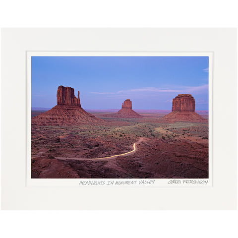 """Headlights in Monument Valley"" by Greg Ferguson"