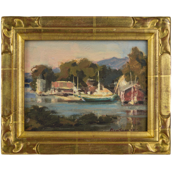 Mystic Seaport by Bill Davidson, Framed