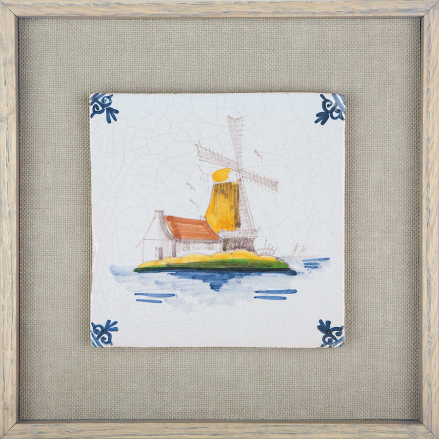 The  Windmill Vintage Delft Tile