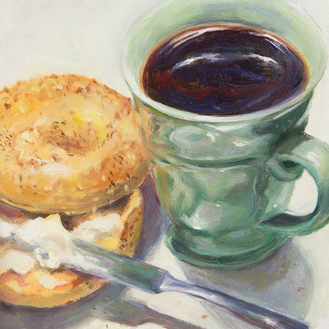 """Coffee and Bagel"" by Lynne Brice *SOLD*"