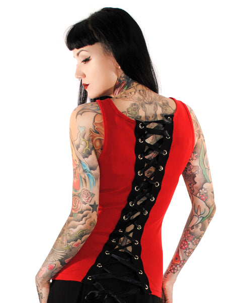121 Red Corset Beater