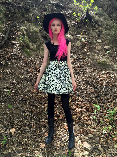 3027 Creatures of the Night Skirt