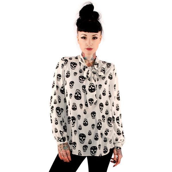 3352 Happy Skulls Bow Top